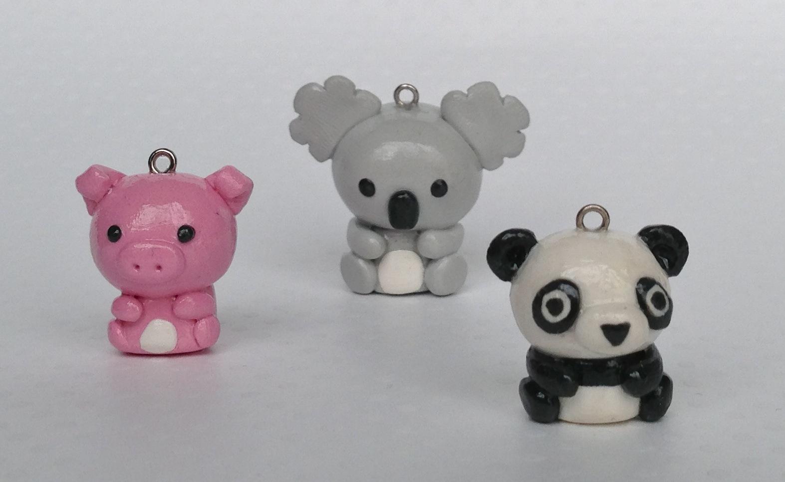 Cute Polymer Clay Animals | Car Interior Design